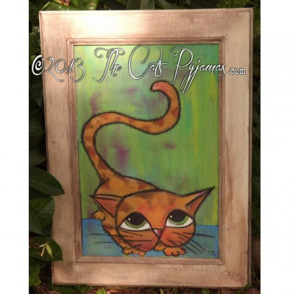 SOLD Tabby Cat Painting