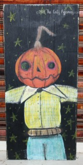 Creepy Pumpkinhead painting