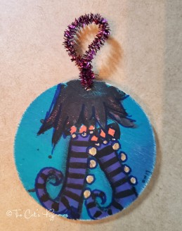 Witch boots ornament