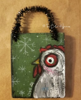Little White Hen Ornament