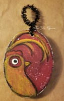 Golden Rooster ornament