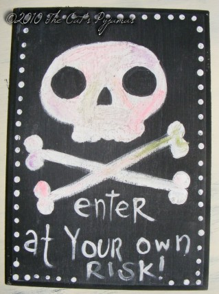 Enter at Your Own Risk painting