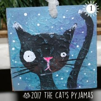 Black kitty ornament
