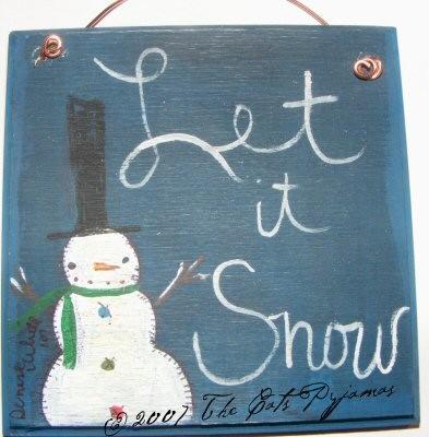 """Snowman """"let it snow"""" sign"""