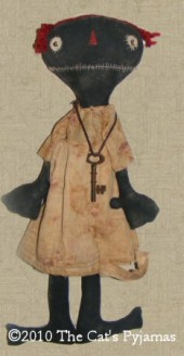 SOLD Jolene primitive black doll