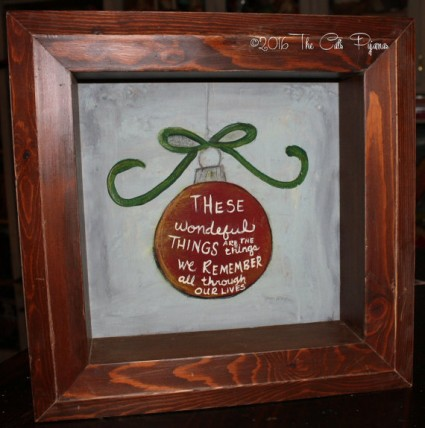Christmas Ornament painted Shadowbox