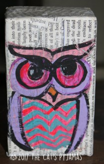 Owl on soap box