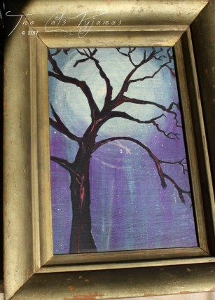 SOLD Tree Silhouette Painting