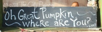 Great Pumpkin Sign