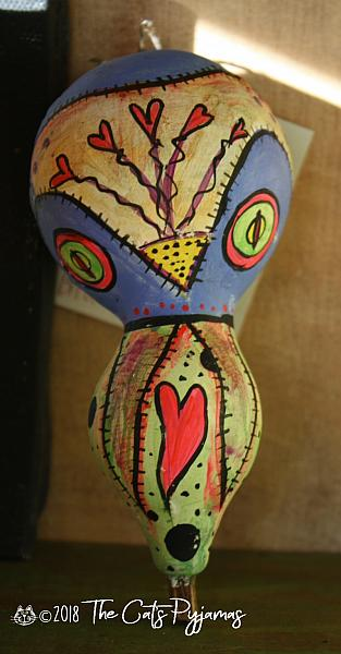 Painted Owl Gourd 8
