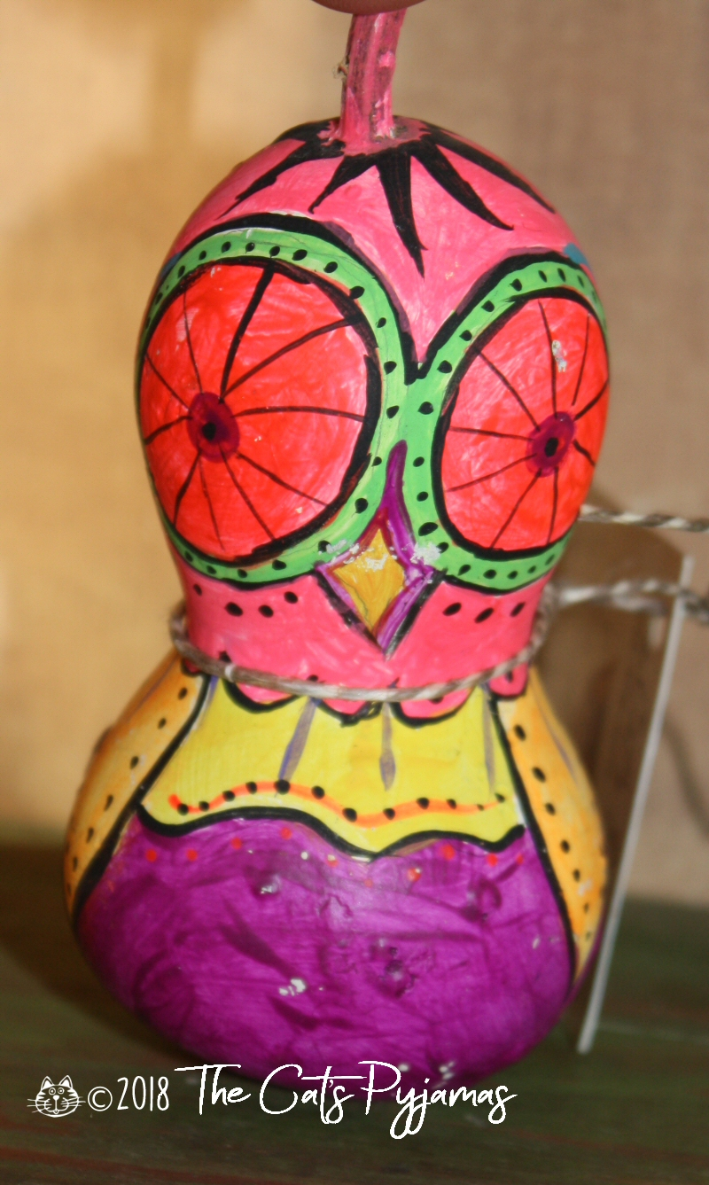 Painted Owl Gourd 4