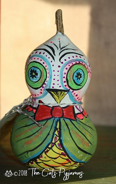 Painted Owl Gourd 7