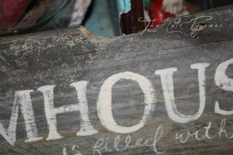 Farmhouse filled with Love sign