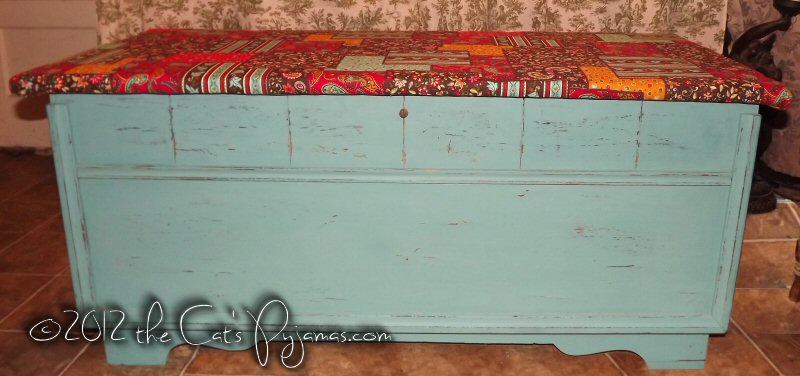 Hand-painted Cedar Chest-- pickup only