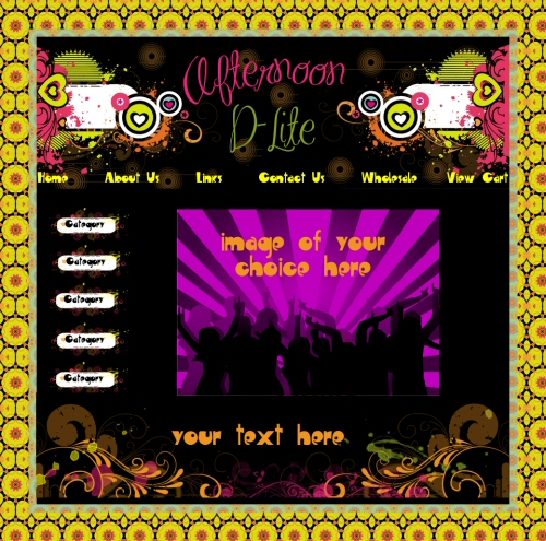 Afternoon D-Lite website graphics