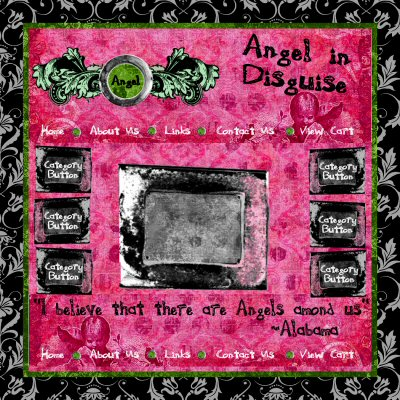 Angel in Disguise website graphics