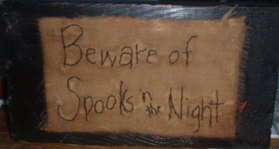 Beware of Spooks stitchery