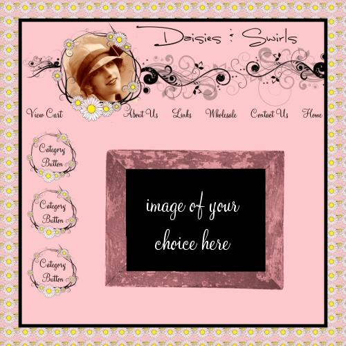 Daisies & Swirls website Graphics
