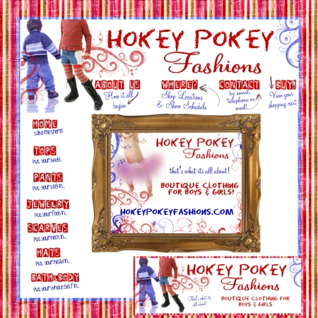 Hokey Pokey Fashions boutique graphics