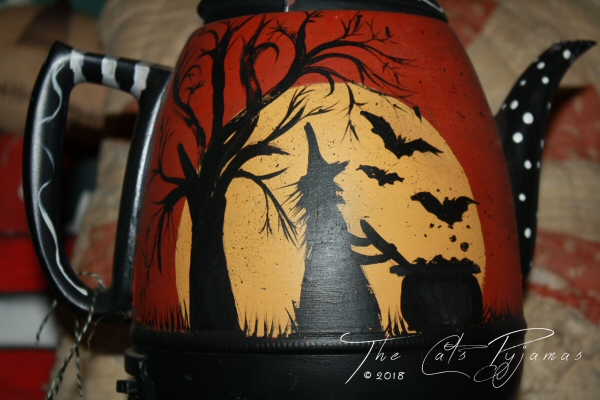 Halloween coffee pot