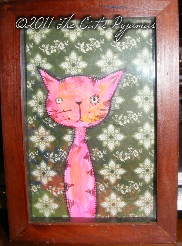 Neon Kitty painting
