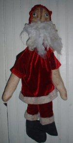 Sideways Santa