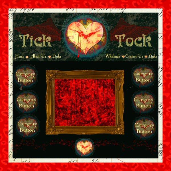 Tick Tock website graphics